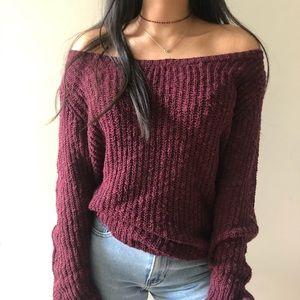 Brandy Melville Off Shoulder Sweater